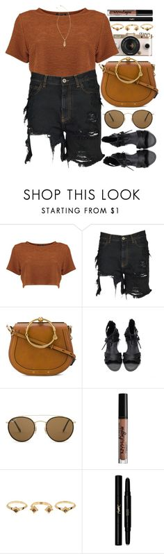 """""""Nice"""" by monmondefou ❤ liked on Polyvore featuring Urban Outfitters, Faith Connexion, Chloé, Ray-Ban, NYX, House of Harlow 1960, Yves Saint Laurent, Lilly Pulitzer, black and brown"""