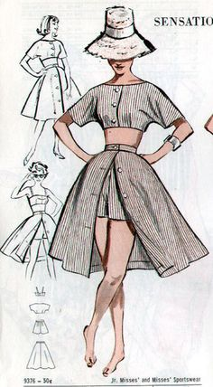 Butterick 9376 vintage sewing patterns fandom powered by wikia free style sewing patterns Fashion Sewing, Diy Fashion, Ideias Fashion, Fashion Tips, Skirt Fashion, Fashion Mask, 2000s Fashion, Fashion Trends, Fashion Design Drawings