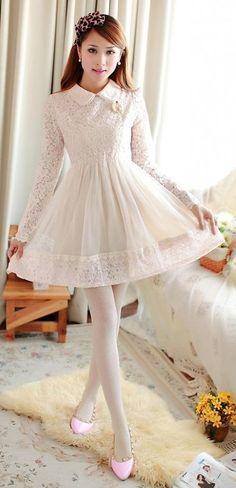 Perfect Lolita outfit for a girl or boy Girly Outfits, Pretty Outfits, Pretty Dresses, Sexy Dresses, Cute Fashion, Asian Fashion, Women's Fashion, Dress Skirt, Dress Up