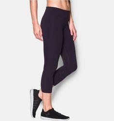 0f6ffc8a309877 Under Armour Women's UA Mirror BreatheLux Crop Yoga Capris, Yoga Pants, Purple  Mirror,