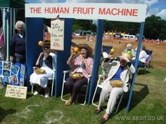 Human fruit machine!