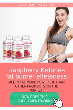 Supplements for weight loss for woman. Raspberry ketones benefits as a fat burner. Raspberry Ketone Max is a natural and the best weight loss supplements for women. Helps cut amount of carbohydrates consume, break down fats, burn calories and is an anti-inflammatory. #supplementsforweightlosswoman #bestsupplementsforwomen Metabolism Booster Supplements, Fat Burner Supplements, Weight Loss Supplements, Supplements For Women, Best Supplements, Natural Supplements, Quick Weight Loss Tips, Weight Loss For Women, How To Lose Weight Fast
