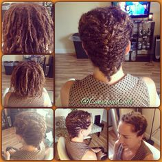 Style: Loc Retight (Started as Braid Locs now are Interlocks) Retight and Style  Client's Hair Type: 2a/3c Hair Added: NA  Products Used: Coiled! by Conscious Coils (Original Refresher Spray)  Time: 1hr 38mins  Style Duration: Retight every 6weeks  #consciouscoils #consciouscoilssalon