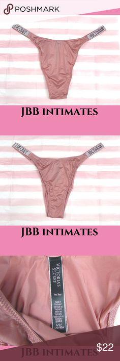 NWT Victorias Secret LOGO Glitter Band High-leg Bikini Panty Fuchsia Pink L