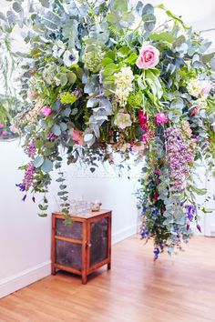 Wedding flowers, floral canopy www.vanessabirleyflorals.com