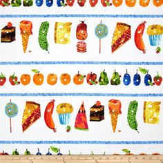The Very Hungry Caterpillar Fabric Picnic Treats FQ