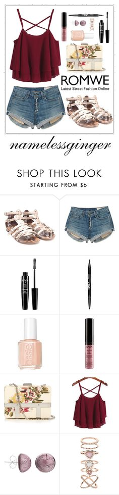"""untitled #494"" by namelessginger ❤ liked on Polyvore featuring Giuseppe Zanotti, rag & bone, NYX, Essie, Alexander McQueen, Martick and Accessorize"