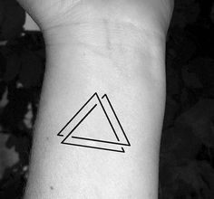 Triangle tattoo triple triangle tattoo three triangles tattoo