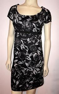 ANN TAYLOR LOFT Sz 2 Black White Floral Print Dress Short-Sleeved Career Event