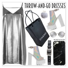 """""""Easy Peasy: Throw-and-Go Dresses"""" by rosewoodcases ❤ liked on Polyvore featuring River Island, Chanel, Dena, Linda Farrow and Belstaff"""