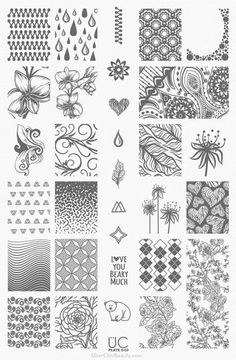 This nail stamping plate includes different types of leaves, adorable leaf patterns, and a leafless tree to create awesome fall inspired nail art designs. Gorgeous nails by de_briz, nailpolishsociety and ladyandthe_stamp Nail Art Stamping Plates, Nail Plate, Cute Nails, My Nails, Pretty Nails, Inspiration Artistique, Black Nail Polish, Image Plate, Nail Sizes