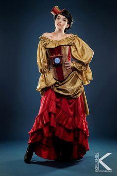 "Father Time 12/"" Steampunk Clockwork Cyber Tutu Rave Skirt Victorian Fancy Dress"