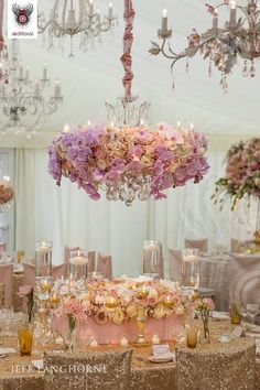 flower chandelier | Image 24539 - Red Floral I literally love everything about this venue ...