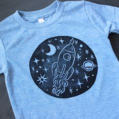 Rocket Ship Birthday Shirt, Outer Space Party, Space Shuttle, Solar System Shirt, Rocket Ship Shirt, Kids Science Shirt, Back to School