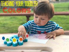 Teaching your toddler colors, toddler activities, teaching your toddler, at home pre school ideas