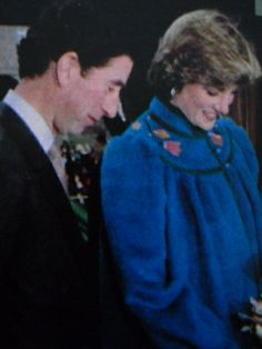 January 23, 1982: Prince Charles  Princess Diana on a visit to the Dick Sheppard School in Tulse Hill, Brixton to support a fund-raising campaign to send 16 children to Zimbabwe on an exchange trip