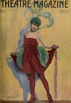 Theatre Magazine cover Aug,1917  . Theatre had a huge impact on fashion. People were dressing in a very flamboyant way