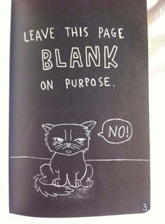 Wreck this journal page, leave this page blank on purpose...♥