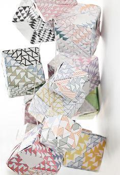 diy paper cubes.