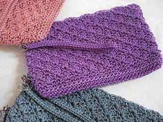 Clutch Crochet PATTERN Simply Sweet Makeup by FunCrochetDesigns