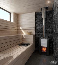 House AUS (парная+моечная) интерьер, назначение - квартира, дом | тип - баня, сауна, хамам | площадь - 10 - 20 м2 | стиль - минимализм. Разместил INT2architecture на портале arXip.com