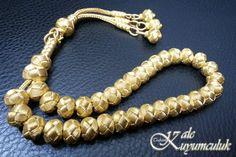 Trabzon el işçiliği altın kazaziye tesbih, Handmade Gold Prayer Beads