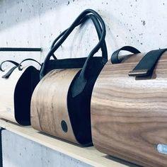 Designstücke: exklusive Handtaschen und Accessoires aus Holz – nussbag Book Club Books, Design, Madeira, Accessories, Leather Satchel, Handbags, Wood, Design Comics
