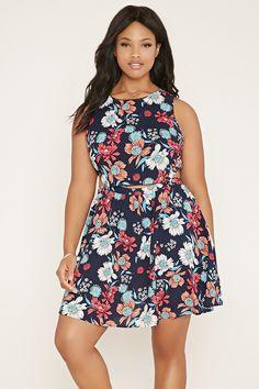 Plus Size Floral Dress - Plus Sizes - 2000150969 - Forever 21 EU English