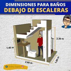 Home Stairs Design, Home Design Plans, Home Interior Design, House Design, Bathroom Layout Plans, Small Bathroom Layout, Two Storey House Plans, Small House Plans, House Construction Plan