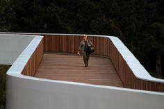 Pedestrian Bridge by Carrilho da Graca arquitectos Landscape Architecture, Interior Architecture, Landscape Design, Bridges Architecture, Portugal, Bridge Design, Pedestrian Bridge, Urban Furniture, Wood Bridge