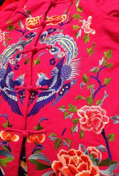Chinese Traditional Floral Birds Embroidery