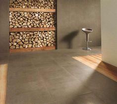 wohnzimmer küche in einem weiße boden fliesen beige braun ... - Boden Braun Modern
