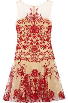 Notte by Marchesa Embroidered tulle mini dress | NET-A-PORTER