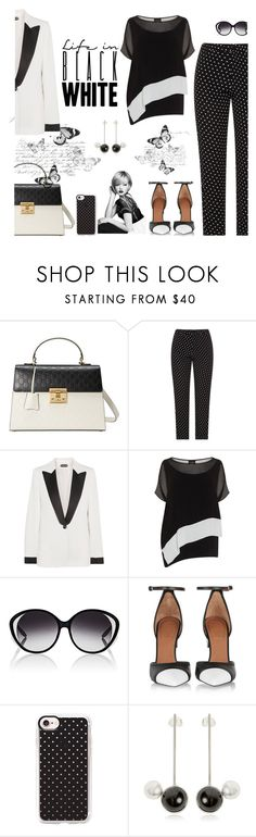 """""""Black & White"""" by cayla-dy ❤ liked on Polyvore featuring Gucci, Tom Ford, Barton Perreira, Givenchy, Casetify and Maison Margiela"""