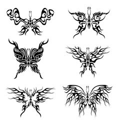 Flaming butterflies vector image on VectorStock Dope Tattoos, Dream Tattoos, Pretty Tattoos, Mini Tattoos, Future Tattoos, Small Tattoos, Tribal Tattoos, Tatoos, Piercings