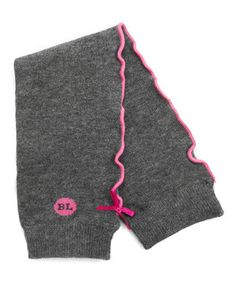 Look what I found on #zulily! Gray & Pink Bow Leg Warmers by Baby Legs #zulilyfinds
