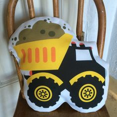 NEW!!! Coming soon to my shop. Pillow toy dump trucks. The perfect Christmas gift for your little truck lover.