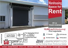 AW Property Ltd - Rental of warehousing. Tel: 234 0224 / 59 40 24 58 Fire Alarm System, Parking Space, Marketing, Alter, Industrial, Real Estate, Tours, Outdoor Decor, Design