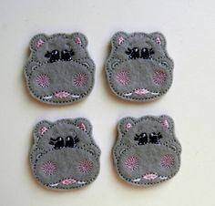 Hippo Applique Set by MissAlyssaJo on Etsy, $3.40