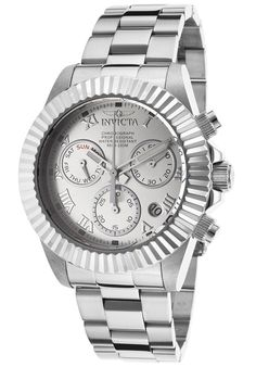 Invicta Watches Men's Pro Diver Chronograph Silver-Tone Steel Silver-Tone Dial 16343,    #Invicta,    #16343,    #Diver