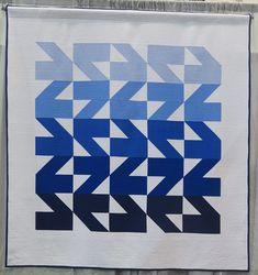 Quiltcon 2017 - Modern Waves Quilt by Kristi Schroeder