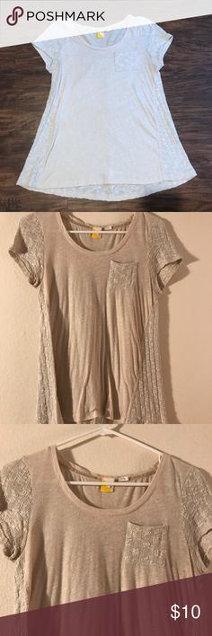 anthro knit top NWOT Light pink knit top Anthropologie Tops Tees - Short Sleeve