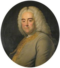 Musical Genius Big Wig! George Frideric Handel (23 February 1685 – 14 April 1759) by Thomas Hudson. German-born British Baroque composer, famous for his operas, oratorios, anthems and organ concertos. He received critical musical training in Halle, Hamburg and Italy before settling in London (1712) and becoming a naturalised British subject in 1727. Handel's music was studied by composers such as Haydn, Mozart and Beethoven. Handel has been accorded high esteem by fellow composers then and now.