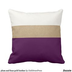 plum and faux gold leather