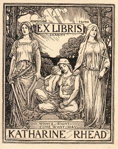 Ex Libris Katharine Rhead (1900). LouisRhead.