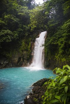 The Rio Celeste waterfall in Costa Rica. Click through to read more about this magical sky blue river http://mytanfeet.com/activities/tips-visiting-rio-celeste/