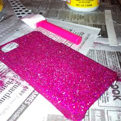 DIY glitter cell phone case! I'm so doing this!