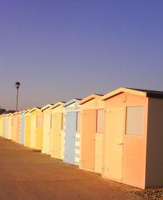 Seaford, Beach huts, Sussex, UK