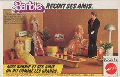 PUBLICITE BARBIE RECOIT SES AMIS JOUETS MATTEL OLD DOLL AD 1982 -12G