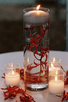 christmas floating candle centerpieces | Married: 2+ years ago